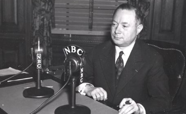 David Sarnoff. Sarnoff was the powerful President of RCA which owned the National Broadcasting Company.